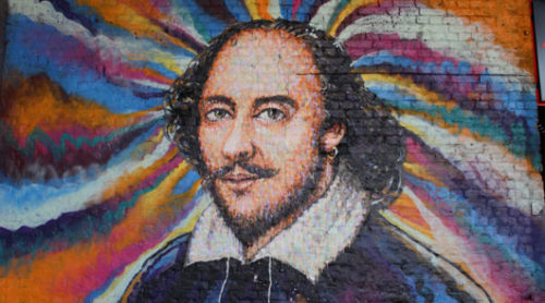 Southwark London - Mural of William Shakespeare